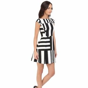 NWT! KATE SPADE Multi Stripe Bow back Dress Msrp $